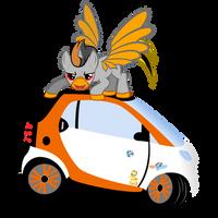 Hooves off my car! by Ashidaru