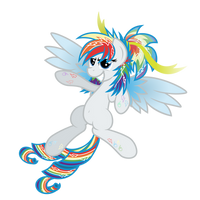 Rainbow Power Rariedash by Ashidaru