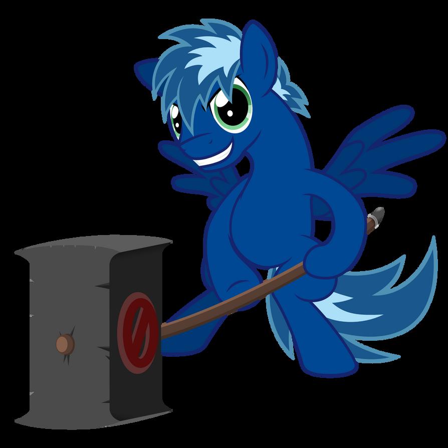 Blue *Banhammer* Sparkle (old version) by Ashidaru