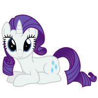 Sitting Rarity by Ashidaru