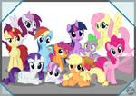 M6, CMCs and Bronies.DE Mascots by Ashidaru