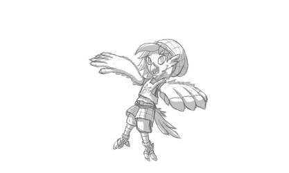 BirbGirl Doodle by Ashidaru