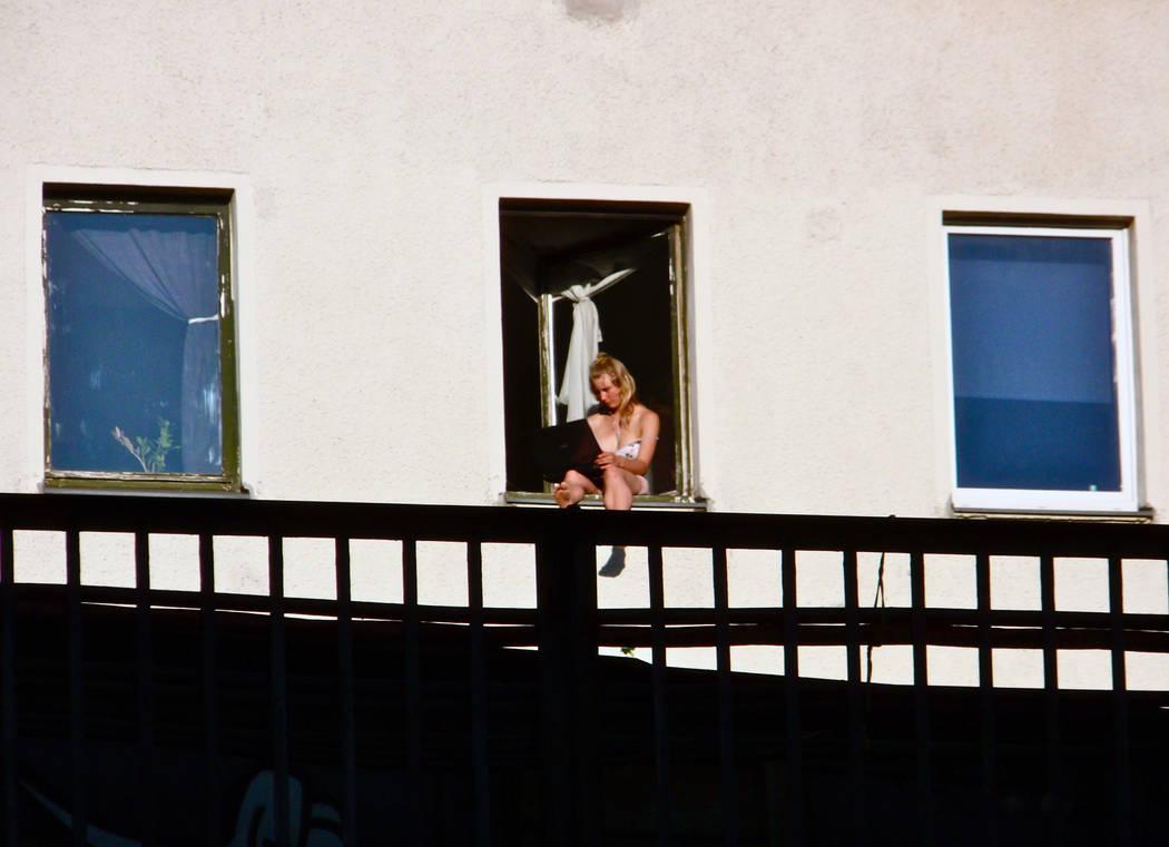 Woman at the Window by Batsceba