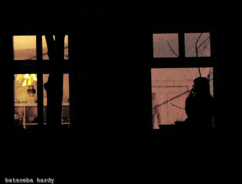 Smoking at the window by Batsceba