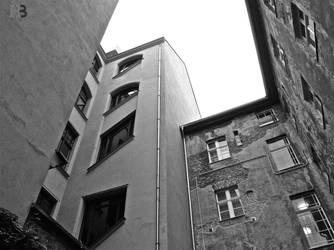 crooked windows by Batsceba