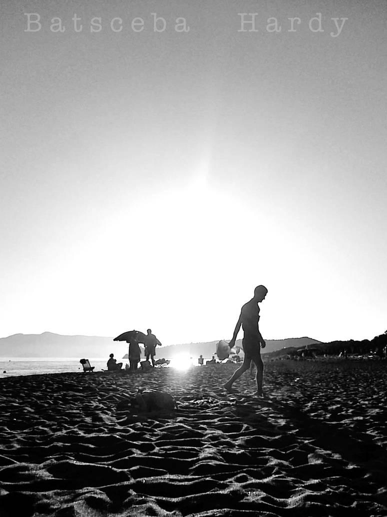 sunset silhouette I by Batsceba
