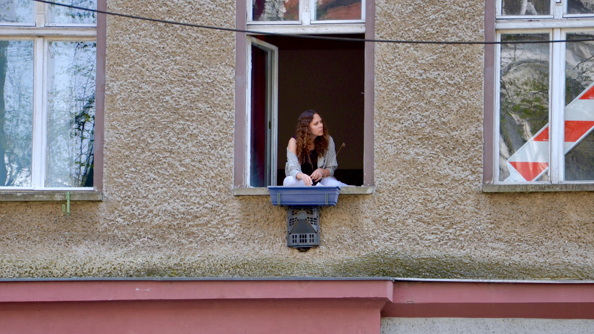 another woman at the window by Batsceba