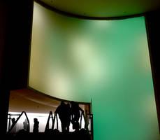 In a telescope lens by Batsceba