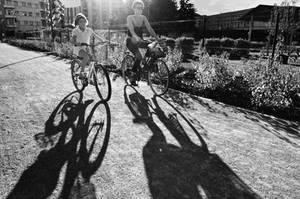 Mother and Daughter cycling by Batsceba