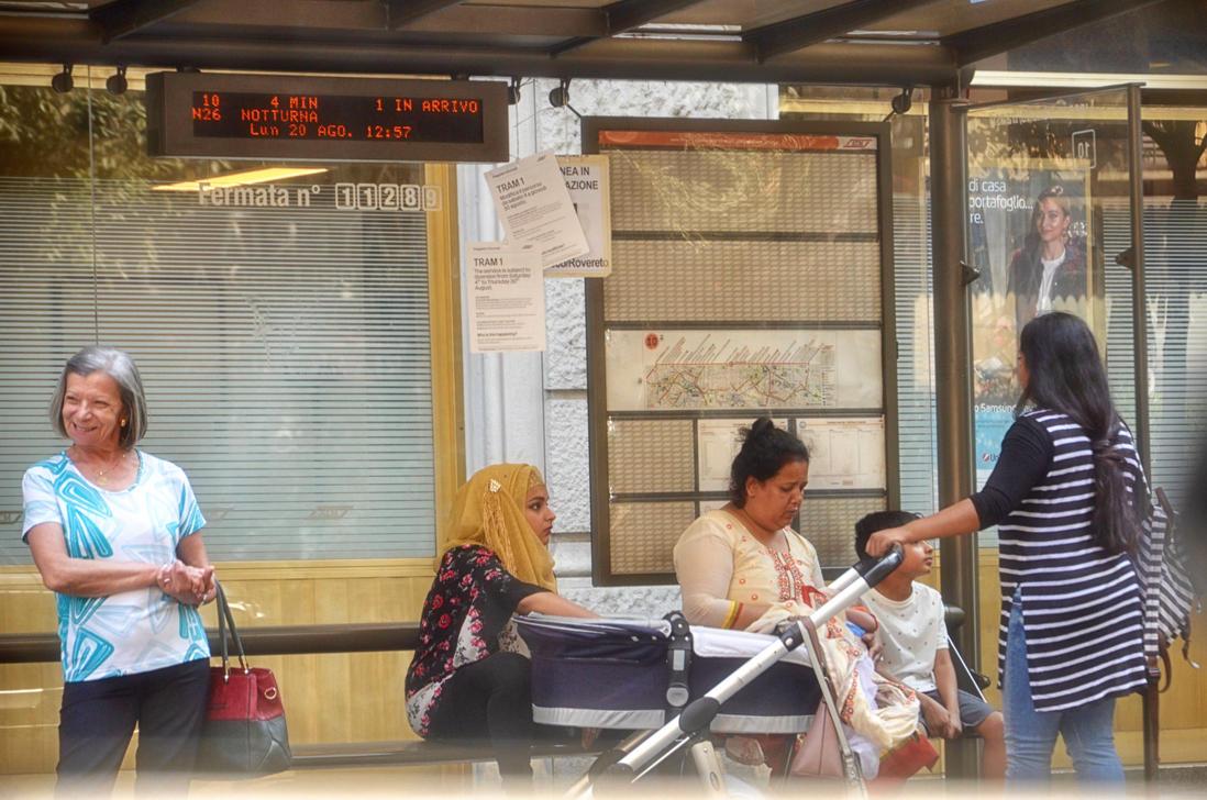 at the stop tram 2 by Batsceba
