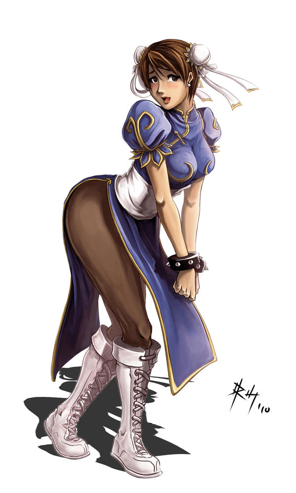 Chun Li fall in love by r-chie