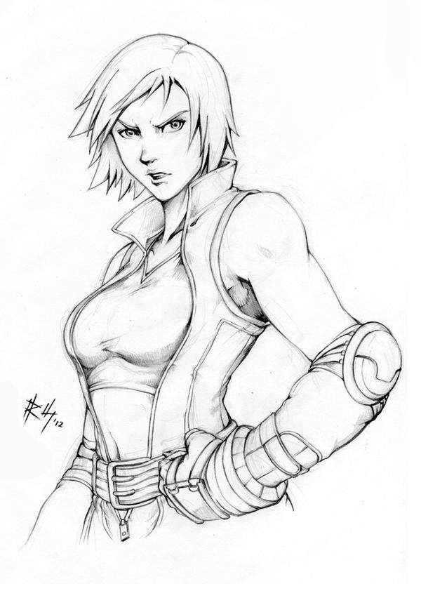 Asuka Kazama - Sketch by r-chie