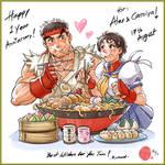 Ryu and Sakura Happy Couple!