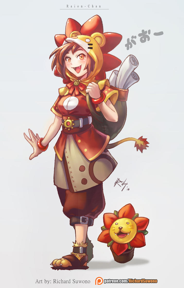 Raion-Chan the delivery Girl by r-chie