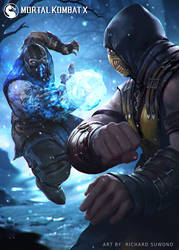 MKX Sub Zero VS Scorpion by r-chie