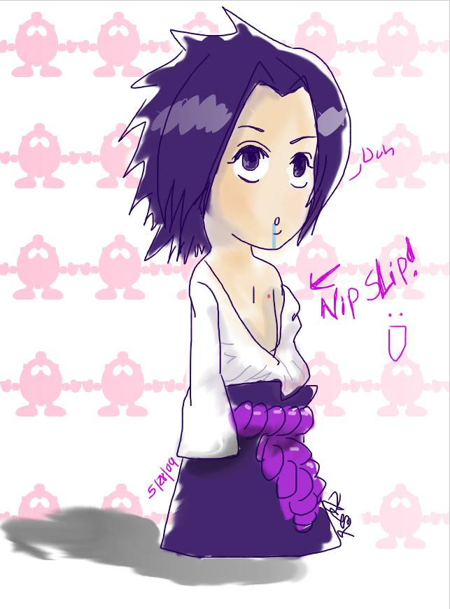 Sasuke - Flashing Nipple Slip by Kiki4rich