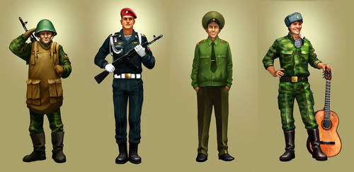 russian soliders by baldri