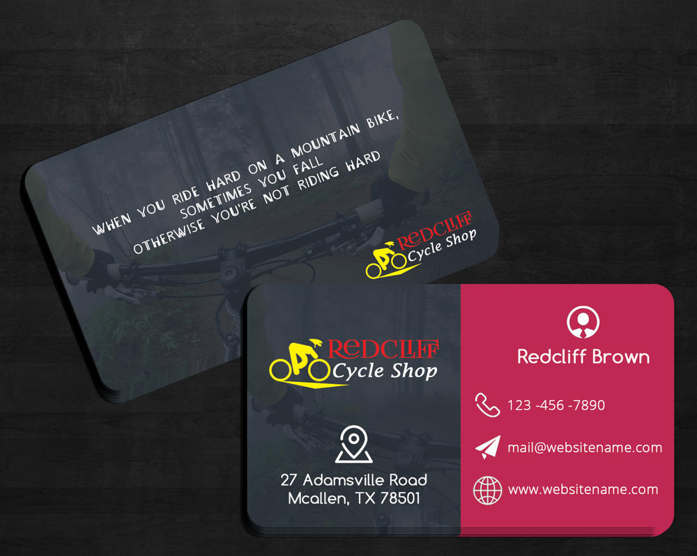 Redcliff cycle shop business card by creativenick9 on deviantart redcliff cycle shop business card by creativenick9 colourmoves