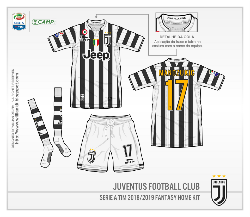 quality design c8c17 e4268 Juventus FC 2018 Home Kit by WillianDelfim on DeviantArt