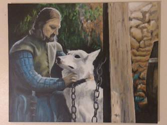 Eddard and Lady by MattRose1