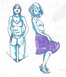 Study - Sketch - monochrome - etude