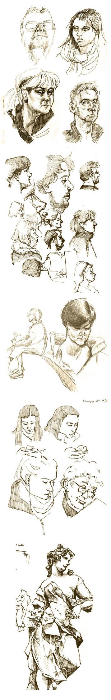 Subway sketching + more by Kidacashanaia