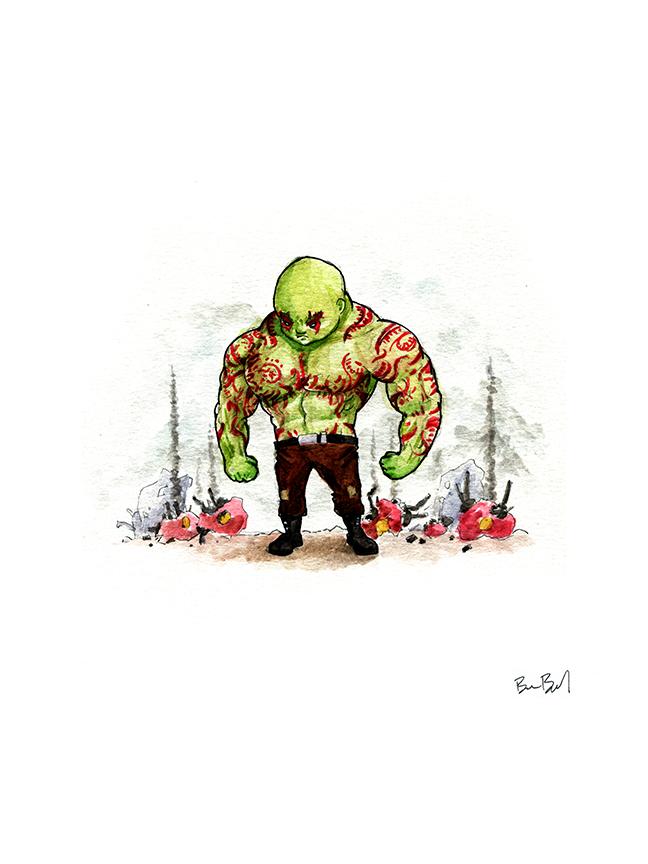 Drax The Destroyer by benbyrdart