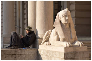 Man And Sphinx by knuta