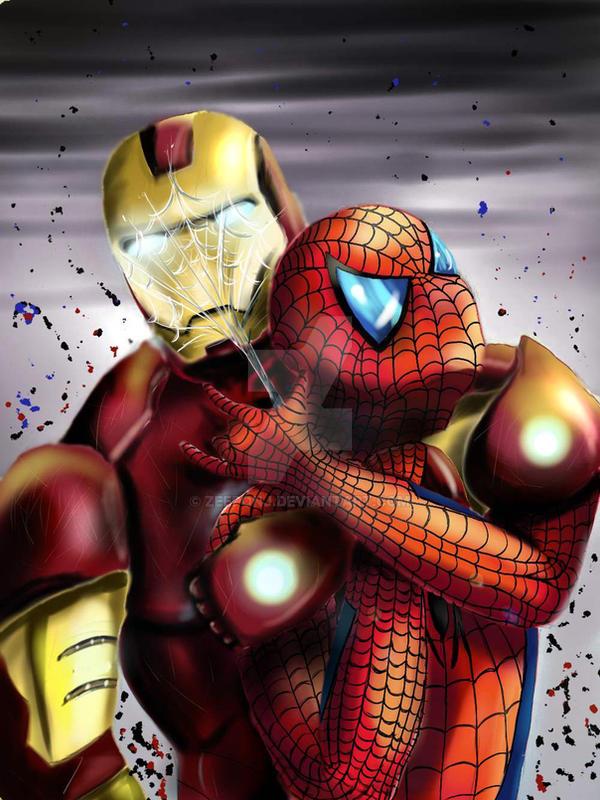 Ironman vs Spiderman by ZeePonj on DeviantArt