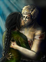 Katniss and Peeta by ZeePonj