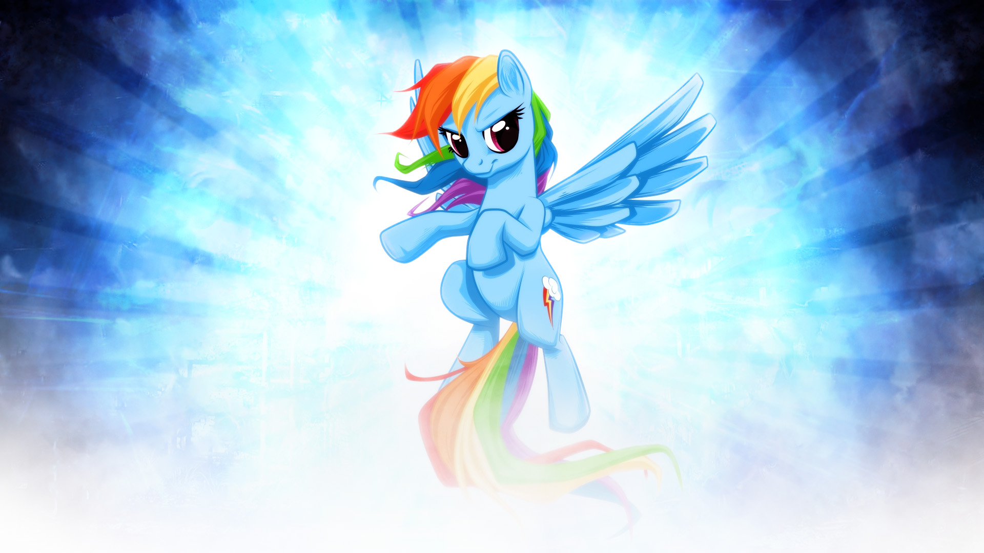 MLP - Rainbow Dash Wallpaper by ossie7