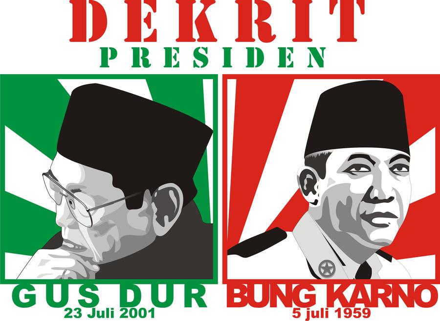 dekrit president gusdur+soekarno by jlimambonjol49