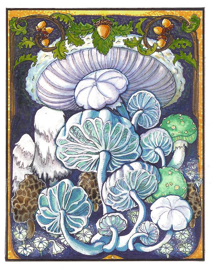 Mushrooms and Acorns by RivkaZ