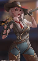 Ashe from Overwatch by Shellvi