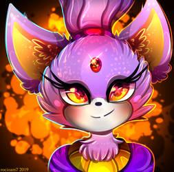 Blaze the Cat ICON by rocioam7