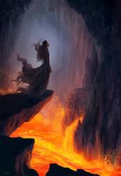 Waking Orodruin by efelidi