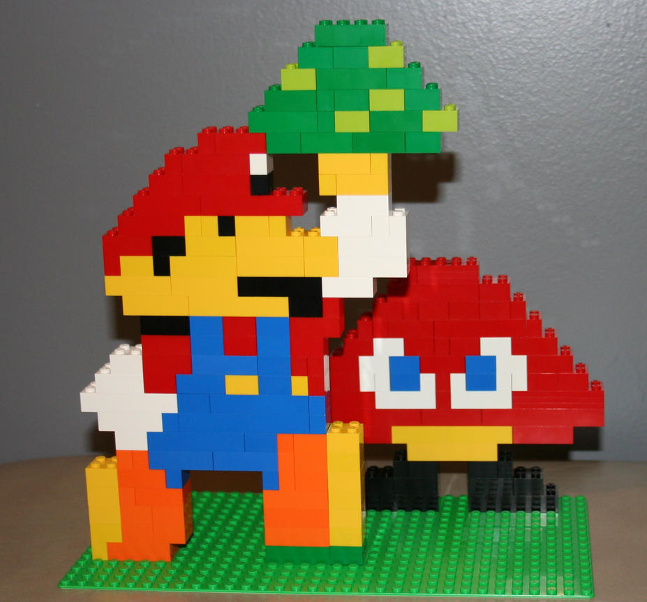 how to build lego mario