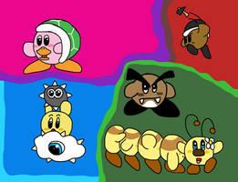 Kirby's Mario Bros. Copy Abilities by creecreehoneybees