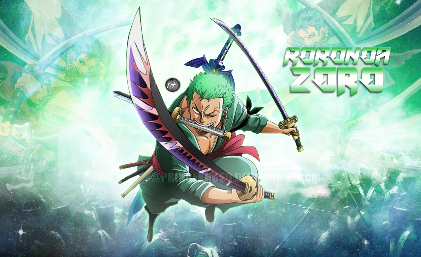 One Piece Roronoa Zoro Wallpaper Hd By Princekhoso On