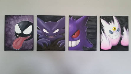 Gengar Family by Nikker