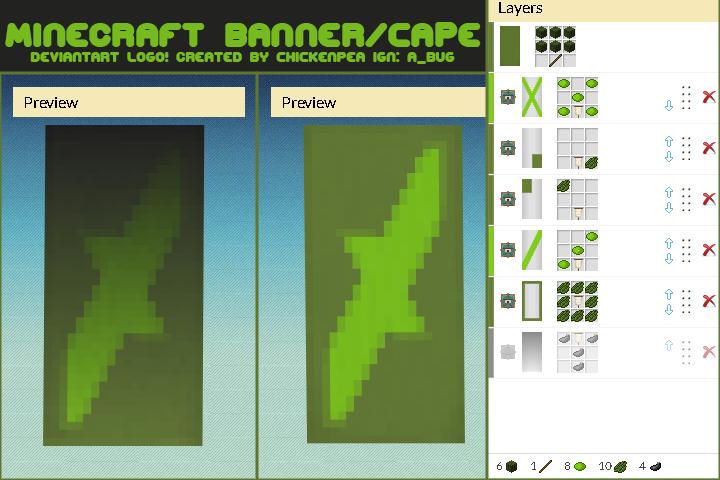 Deviantart Logo Minecraft Banner Optifine Cape By