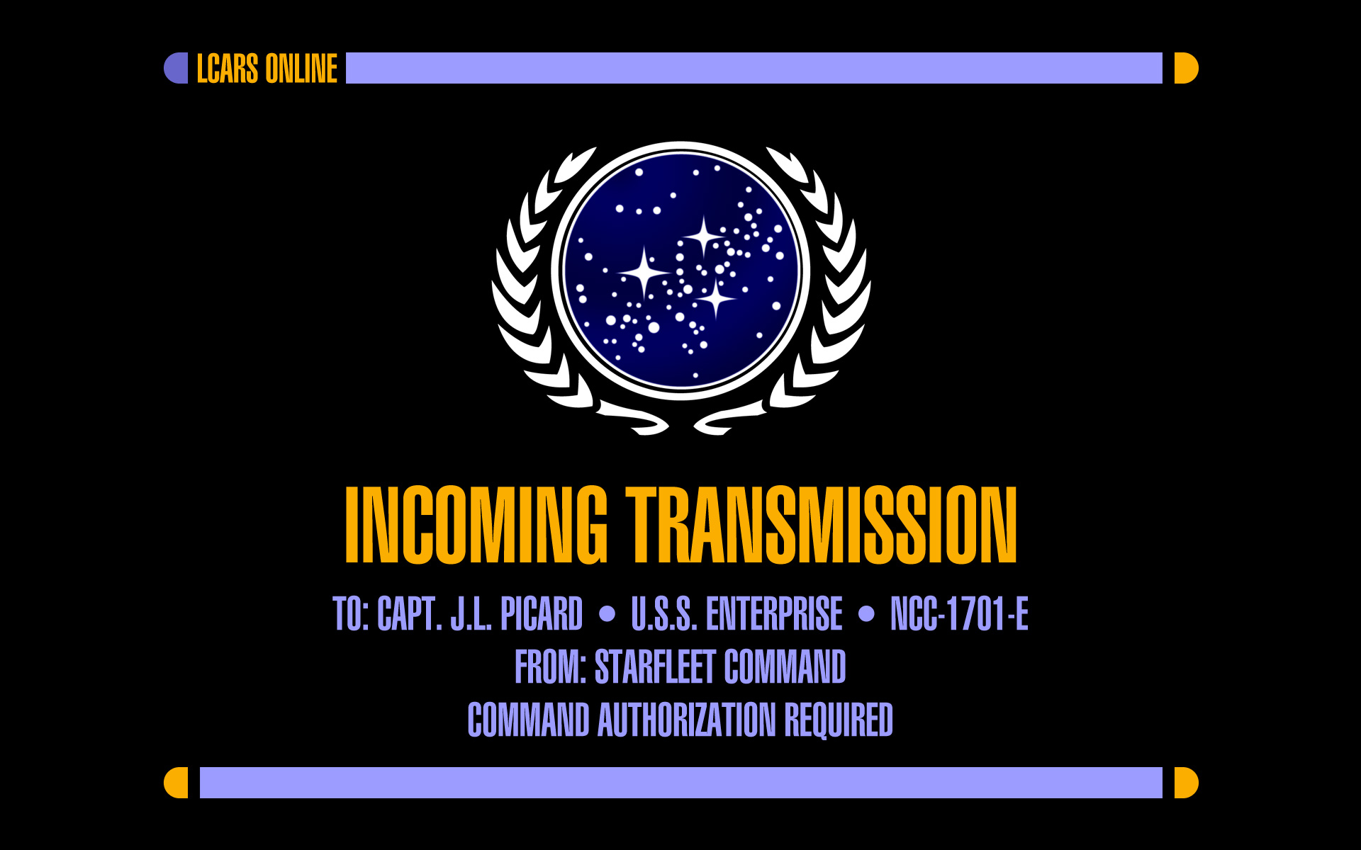 lcars incoming transmission by futurephonic on deviantart