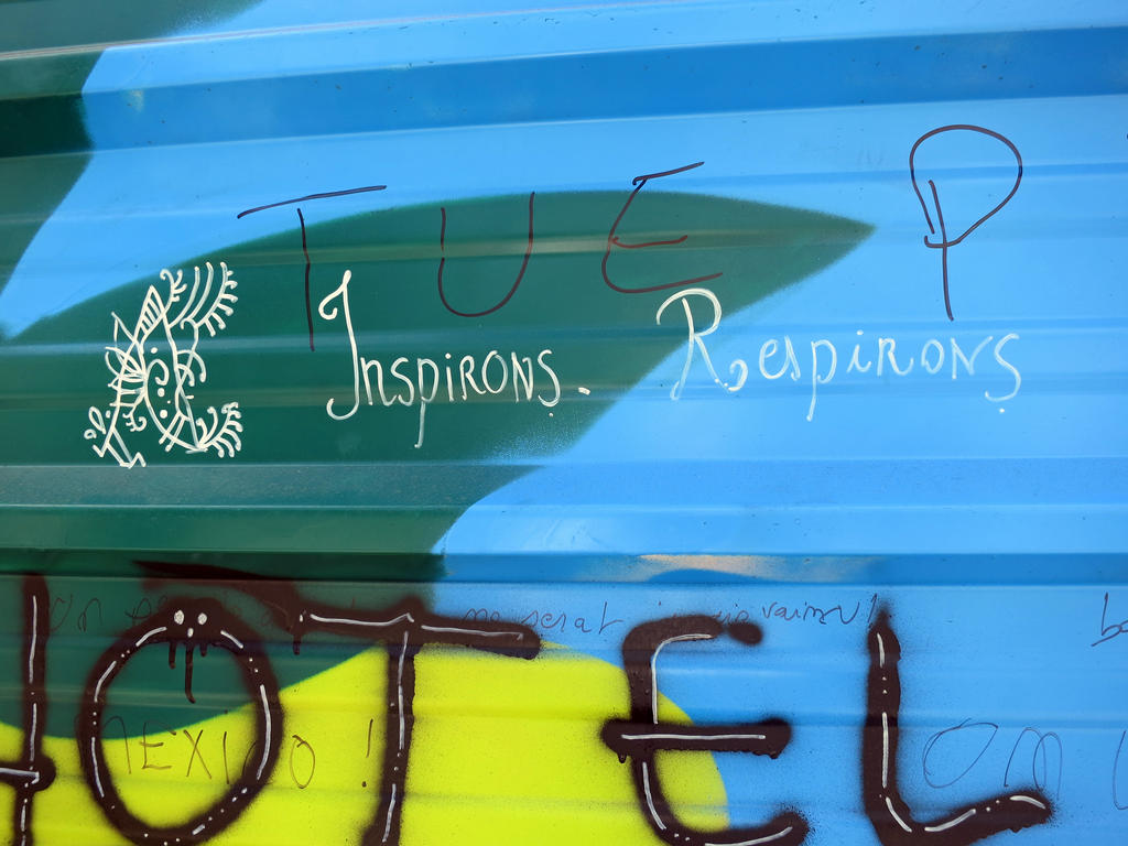 Inspirons Respirons - graffiti in Tours, France by elainelouve