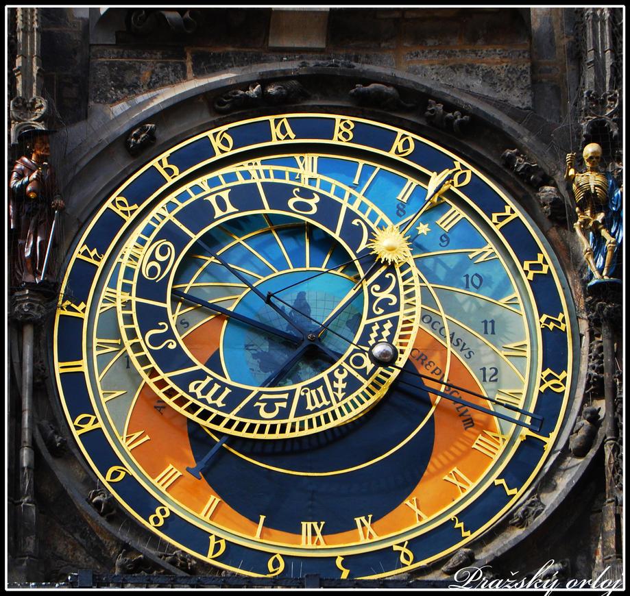 Mural Wall Prague Astronomical Clock By Larxziss On Deviantart