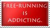 Freerunning Is Addicting Stamp