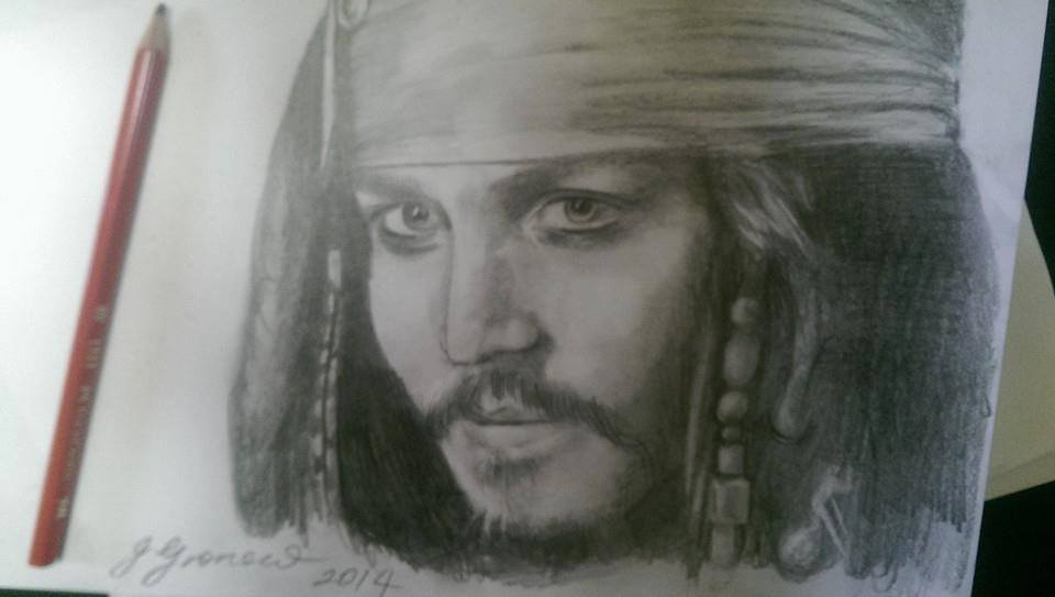 Portrait of Jack Sparrow - By Jessica Gronow by rogueinktattoo