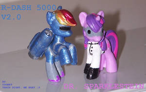 R-DASH 5000 V2.0 and Dr Twilight Sparklestein WIP1 by coonk9