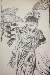 Honduran Girl (Chinese Papercutting Style)