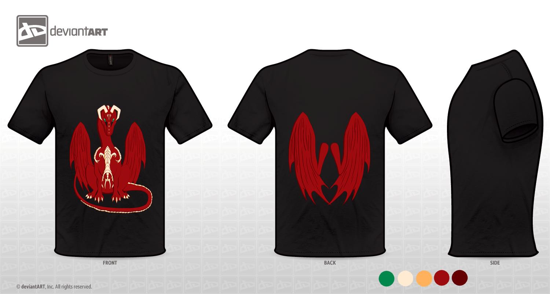 Mythical Creatures Design T-Shirt - Dragon by Espy-Shinrai
