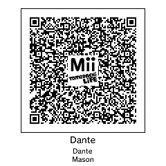 Tomodachi life qr code: Dante by ilikecookies23